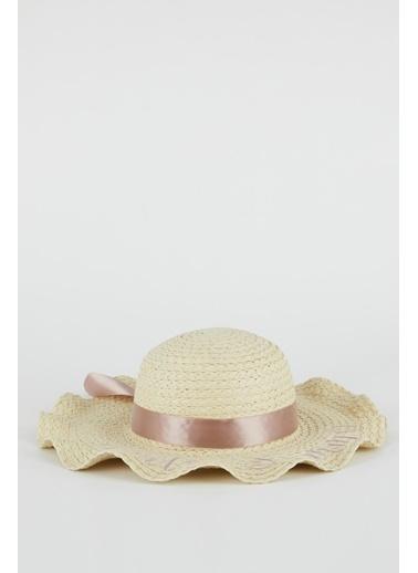 DeFacto Kadın Fiyonk Detaylı Hasır Şapka Bej